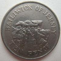 Джерси 10 пенсов 1992 г. (g)