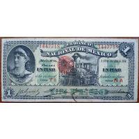 Мексика, 1 песо 1913 год, S255