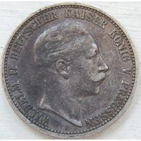 20. Пруссия 2 марки 1904 год, серебро