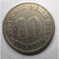 Германия. 10 пфеннигов 1898 A 60