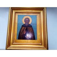 Старинная икона.19 век.Сергий Радонежский.