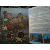 Набор пробников евромонет Кипра 2004