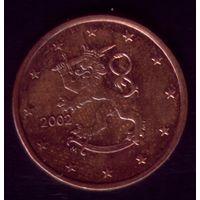 5 центов 2002 год Финляндия