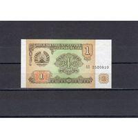 Таджикистан 1 рубль 1994 года.Состояние UNC . первые серии.   распродажа