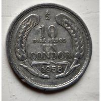 Чили 10 песо, 1958 1-5-19
