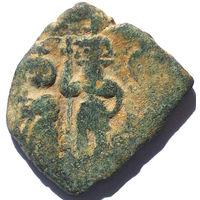 ИРАКЛИЙ (610-641 г.) ИРАКЛИЙ КОНСТАНТИН И ИРАКЛЕОН. КОСТАНТИНОПОЛЬ. АЕ ФОЛЛИС.