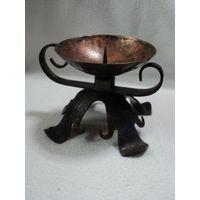 Винтажный подсвечник на одну свечу (медь)