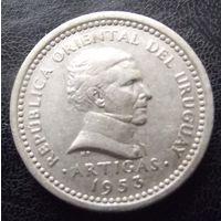 Уругвай. 2 сентимо 1953