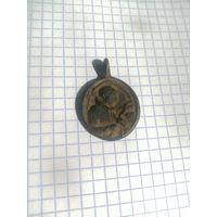 Большой Каталический медальон образок! В коллекцию!