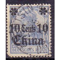 Германия Почта в Китае 10 с/ 20 пф 0Wz 1905 г