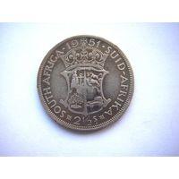 Южная Африка  2 1/2  ШИЛЛИНГА 1951 г.  (Георг VI)