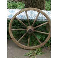 Старинные колеса от брички диаметр 61 см.