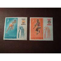 Гренада 1968 г. Летние Олимпийские игры 1968 года - Мехико .