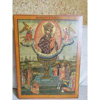 Форматная икона Живоносный Источник Богородицы 19 век. Размер!