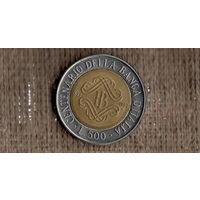 Италия 500 лир 1993 /100 лет банку Италии/биметалл(М*у)