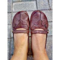 Балетки туфли макасины из Швейцарии кожа р. 39
