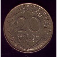 20 сантимов 1986 год Франция