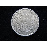 Австро-Венгрия 1 флорин 1886 г