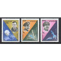 Космонавты Космос Йемен 1966 год 3 марки
