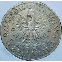 10. Польша 5 злотых 1932 год, серебро