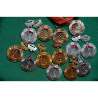 Медали спортивные 13 шт