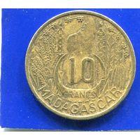 Мадагаскар 10 франков 1953