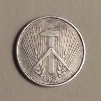 "5 пфенниг 1952  А   Германия ГДР Отметка монетного двора:  ""А"" - Берлин"