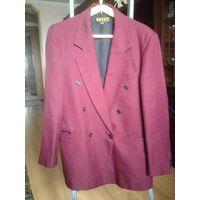 Пиджак бордо р.46-48, рукав - 65см