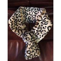 Воротник шарф меховый леопард длинна 83 см, ширина 10 см