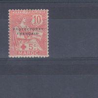 [497] Французские колонии. Марокко 1915. Красный Крест.Надпечатка. МН.