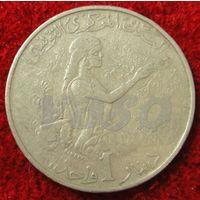 7562:  1 динар 1976 Тунис