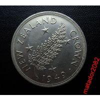 Новая Зеландия.Крона 1949 Георг VI. Серебро