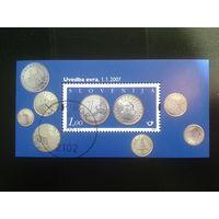 Словения 2007 евро-деньги  блок