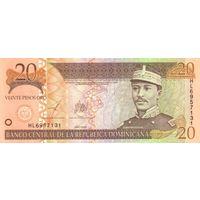 Доминикана(Доминиканская республика) 20 песо образца 2003 года UNC p169c