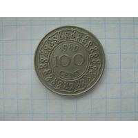 Суринам 100 центов 1989г.km23