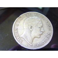 Пруссия 5 марок 1903, серебро