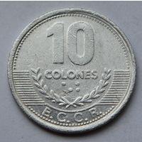 Коста-Рика, 10 колонов 2008 г.