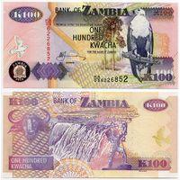 Замбия. 100 квача (образца 2010 года, P38i, UNC)