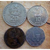 Мавритания. 4 монеты 1997-2017 г.
