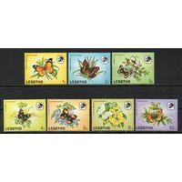 Бабочки Лесото 1984 год 7 марок