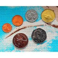 Набор монет Гамбия 1, 2, 5, 10, 25, 50 бутут; 1 даласи.