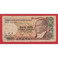 ТУРЦИЯ. 5000 лир 1990г.  73639358  распродажа