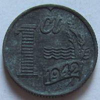 Нидерланды, 1 цент 1942 г