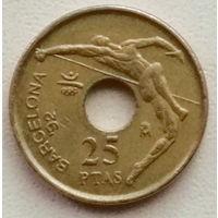 Испания 25 песета 1991 XXV летние Олимпийские Игры, Барселона 1992 /Король Хуан Карлос I/