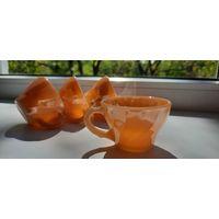 Чашки Made in USA Anchor Hocking кружки 40 е. годы
