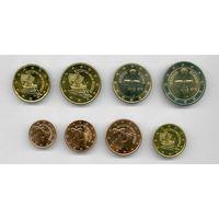 2 евро 2020 Кипр  2020 набор монет  UNC из ролла