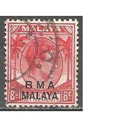 Малайя(Британская военная администрация). Король ГеоргVI. Пальмы. 1945г. Mi#6.