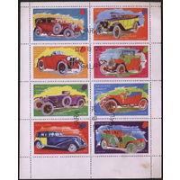 М.л. Автомобили. Нагаленд (Индия) 1974 Ретро автомобили. Гаш.