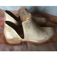 Ботинки Venezia Италия 40 р кожа текстиль