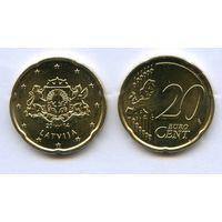 ЕВРО Латвия 20 евроцентов 2014